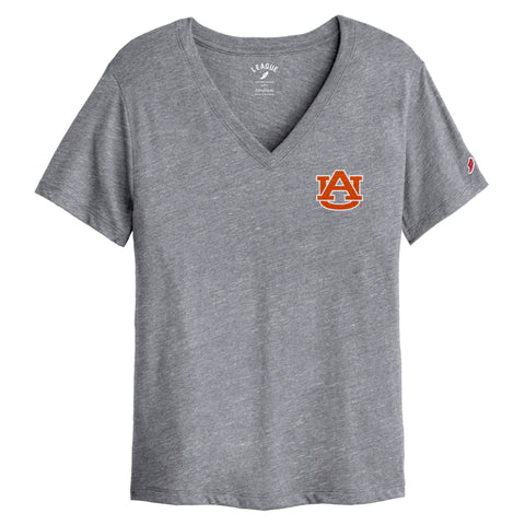 Auburn Tigers Women's Heather Grey Intramural Boyfriend V Tee