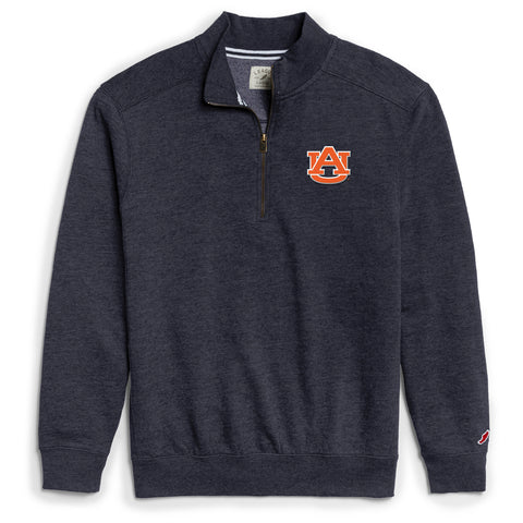 Auburn Tigers Men's Heather Navy Heritage 1/4 Zip Sweatshirt