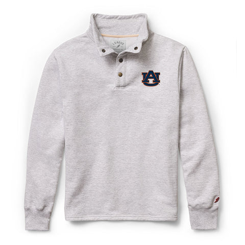Auburn Tigers Men's Ash Grey 1636 Snap Up Sweatshirt