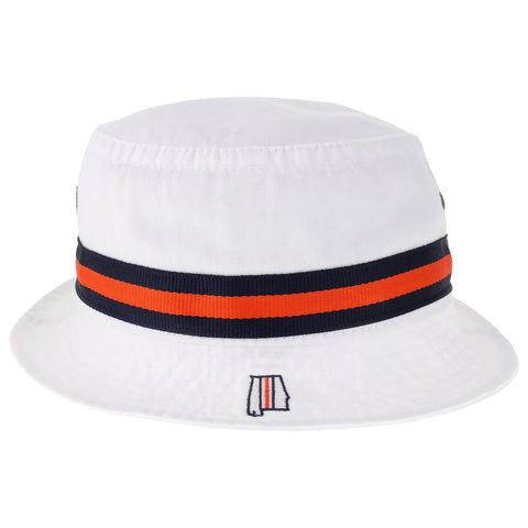 Samford + Donahue White Relaxed Twill Bucket Hat