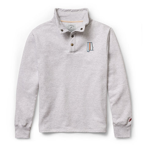 Samford + Donahue Men's Ash Grey Snap Up Pullover Sweatshirt