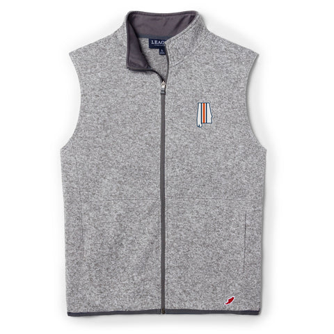 Samford + Donahue Men's Heather Grey Full Zip Saranac Vest