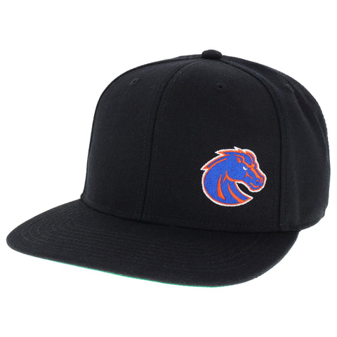 Boise State Broncos Black High Pro Flat Brim Adjustable Hat