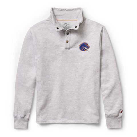 Boise State Broncos Men's Ash Grey 1636 Snap Up Sweatshirt