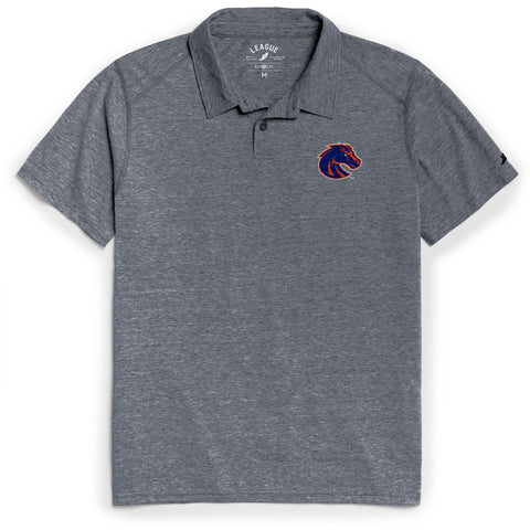 Boise State Broncos Men's Heather Navy Reclaim Polo Tee