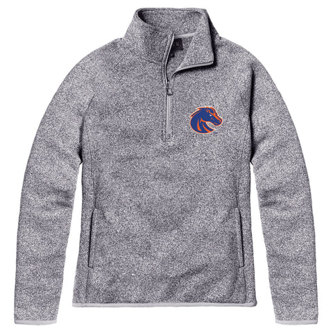 Boise State Broncos Women's Heather Gray Saranac Quarter Zip