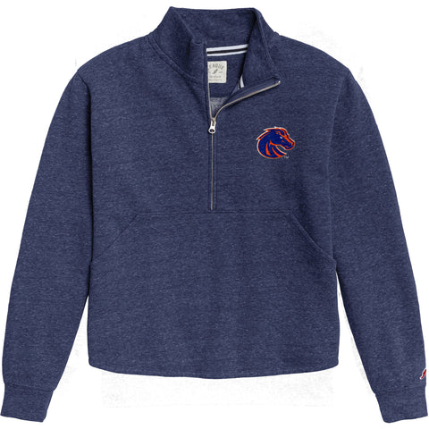 Boise State Broncos Women's Heather Royal Blue Victory Springs Half Zip Pullover