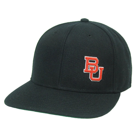 Boston University Terriers Black High Pro Flat Brim Adjustable Hat