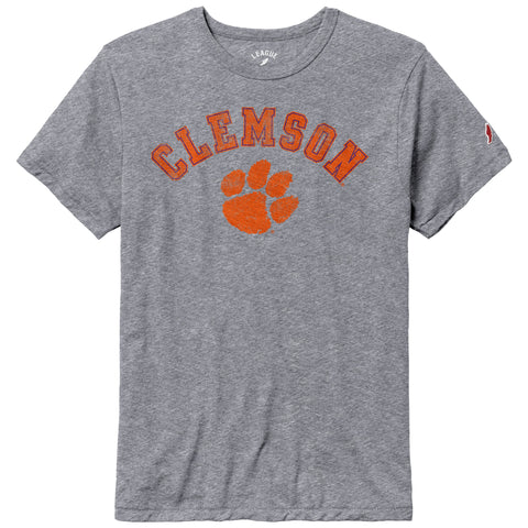 Clemson Tigers Heather Gray Victory Falls Short Sleeve Tee