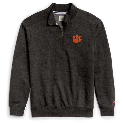 Clemson Tigers Men's Heather Black Heritage 1/4 Zip Sweatshirt