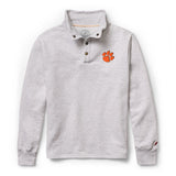 Clemson Tigers Men's Ash Grey 1636 Snap Up Sweatshirt