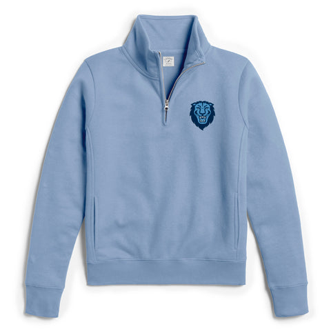 Columbia University Lions Women's Light Blue Academy 1/4 Zip Sweatshirt