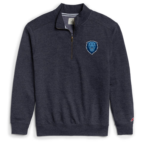 Columbia University Lions Men's Heather Navy Heritage 1/4 Zip Sweatshirt