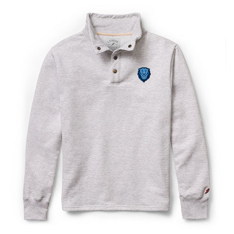 Columbia University Lions Men's Ash Gray 1636 Snap Up Sweatshirt