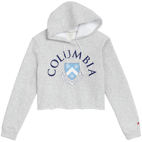 Columbia University Lions Women's Ash Grey 1636 Cropped Sweatshirt