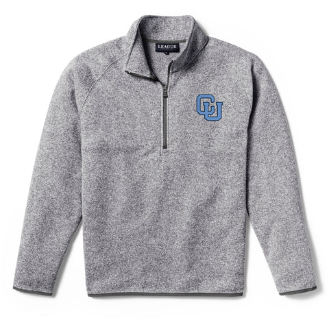 Columbia University Lions Men's Heather Gray Saranac 1/4 Zip Sweater