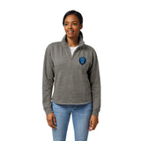 Columbia University Lions Women's Heather Grey Victory Springs Half Zip Pullover