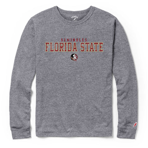 Florida State Seminoles Men's Heather Grey Victory Falls Long Sleeve Tee