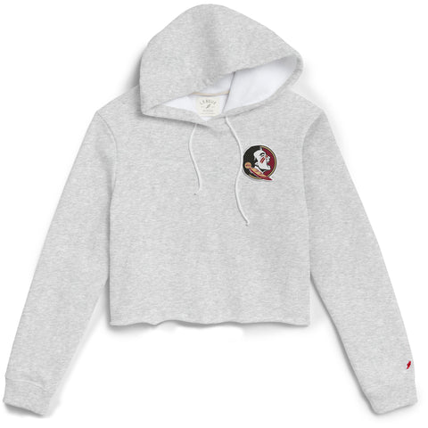 Florida State Seminoles Women's Ash Gray 1636 Cropped Sweatshirt