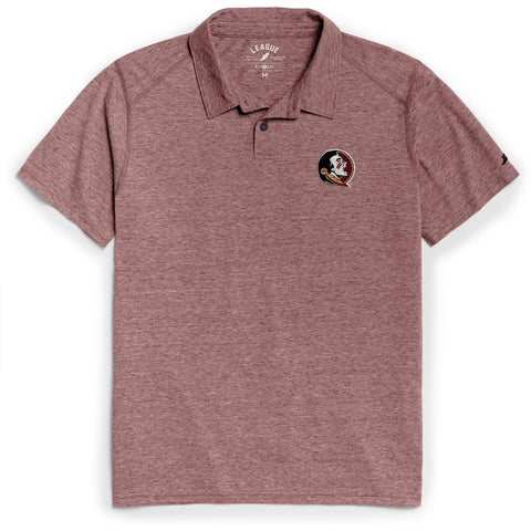 Florida State Seminoles Men's Heather Garnet Reclaim Polo Tee