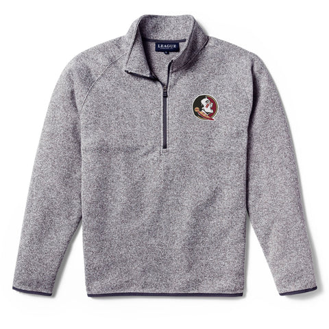 Florida State Seminoles Men's Heather Grey Saranac 1/4 Zip Sweater
