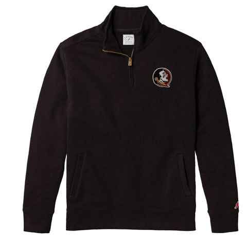 Florida State Seminoles Men's Black Stadium 1/4 Zip Sweatshirt