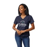 Florida Gators Women's Heather Royal Blue Intramural Boyfriend V Tee