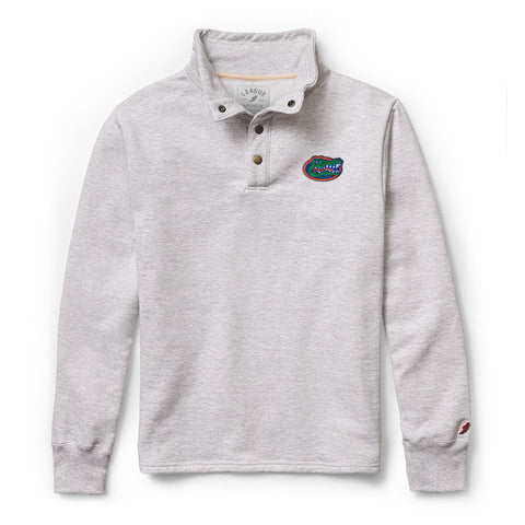 Florida Gators Men's Ash Gray 1636 Snap Up Sweatshirt