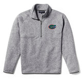 Florida Gators Men's Heather Grey Saranac 1/4 Zip Sweater