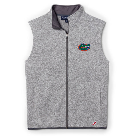 Florida Gators Men's Heather Grey Saranac Full Zip Vest