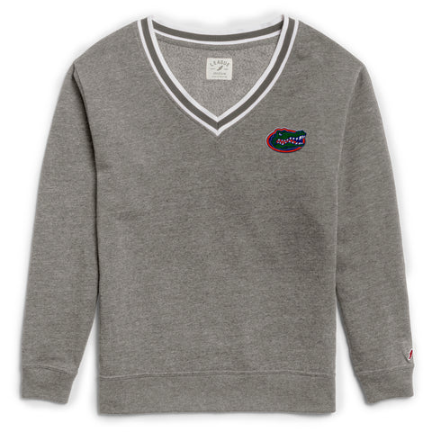 Florida Gators Women's Heather Grey Victory Springs V Crew
