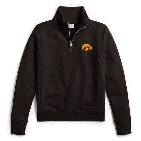 Iowa Hawkeyes Women's Black Academy 1/4 Zip Sweatshirt