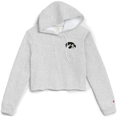Iowa Hawkeyes Women's Ash Grey 1636 Cropped Sweatshirt