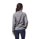 Iowa Hawkeyes Women's Heather Grey Saranac 1/4 Zip Sweater