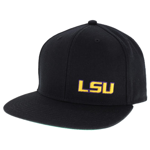 LSU Tigers Black High Pro Flat Brim Adjustable Hat