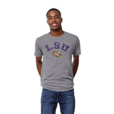 LSU Tigers Heather Gray Victory Falls Short Sleeve Tee