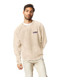 LSU Tigers Unisex Vanilla Timber Crew Corded Sweatshirt