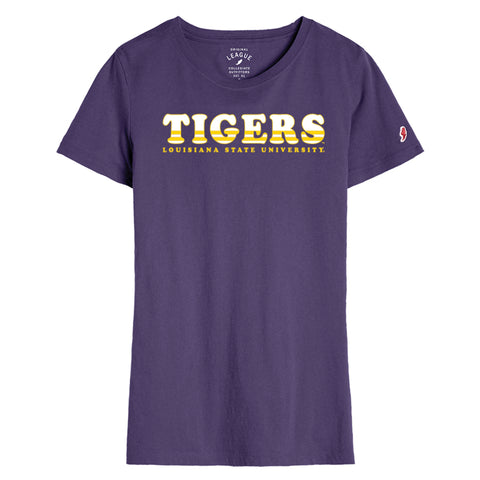 LSU Tigers Women's Purple Short Sleeve Freshy Tee