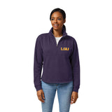 LSU Tigers Women's Heather Purple Victory Springs Half Zip Pullover