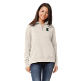 Michigan State Spartans Women's Oatmeal Academy 1/4 Zip Sweatshirt