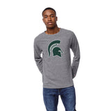 Michigan State Spartans Men's Heather Grey Victory Falls Long Sleeve Tee