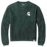 Michigan State Spartans Unisex Green Timber Crew Corded Sweatshirt