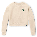 Michigan State Spartans Women's Vanilla Timber Crop Crew