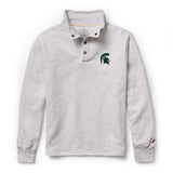 Michigan State Spartans Men's Ash Gray 1636 Snap Up Sweatshirt