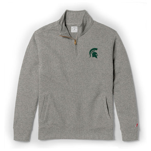 Michigan State Spartans Men's Grey Stadium 1/4 Zip Sweatshirt