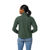 Michigan State Spartans Women's Heather Green Victory Springs Half Zip Pullover