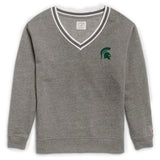 Michigan State Spartans Women's Heather Grey Victory Springs V Crew