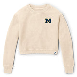 Michigan Wolverines Women's Vanilla Timber Crop Crew