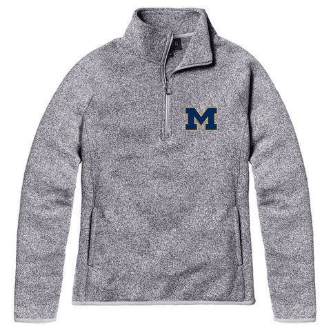 Michigan Wolverines Women's Heather Gray Saranac Quarter Zip