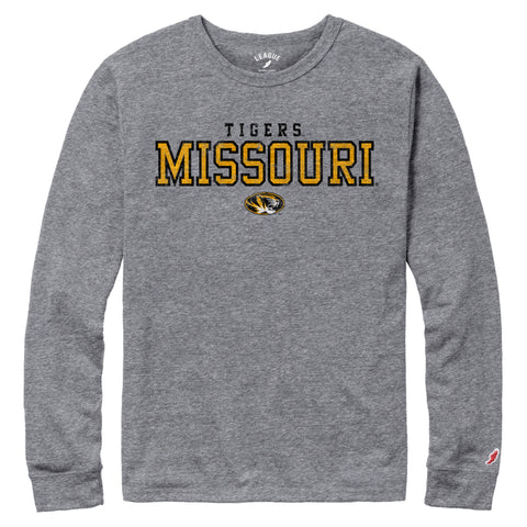 Missouri Tigers Men's Heather Grey Victory Falls Long Sleeve Tee